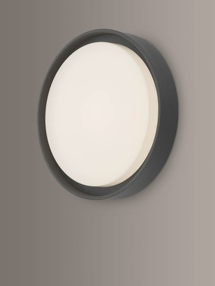 Dar Ralph LED Large Flush Outdoor Wall Light, Anthracite