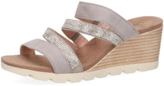 Caprice Grey Crystal Wedge Sandal - 3.5