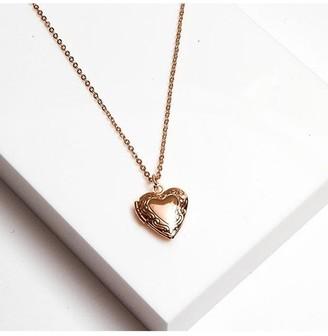 Johnny Loves Rosie Gracie Heart Locket Necklace 48cm