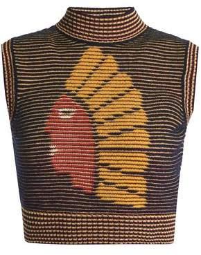 M Missoni Jacquard-Knit Wool-Blend Sweater