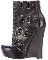 Alejandro Ingelmo Leather Wedge Ankle Boots
