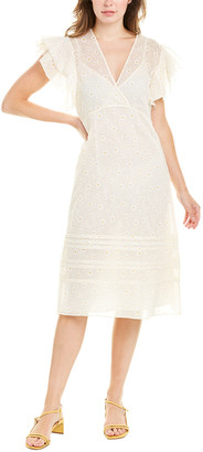 Tory Burch Susanna Silk-Blend Midi Dress