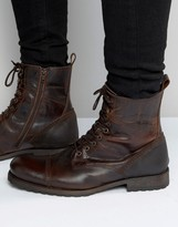 Aldo Graegleah Military Boots In Brown Leather