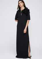 Lanvin Black Ruffle Shoulder Gown