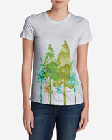 Eddie Bauer Women's Graphic Short-Sleeve T-Shirt - Trees