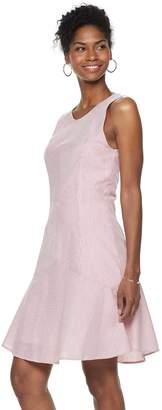 Women's Nina Leonard Seersucker Fit & Flare Dress