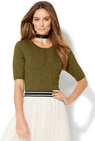 New York & Co. Ribbed Lurex Pullover Sweater