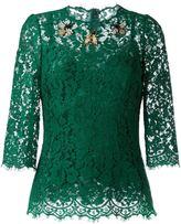 Dolce & Gabbana embellished lace blouse