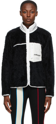 Ambush Black Fleece Zip-Up Jacket