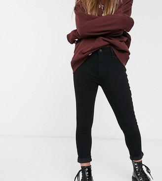 New Look Petite disco jeans in black