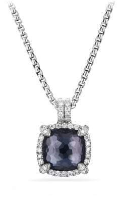 David Yurman Chatelaine® Pave Bezel Pendant Necklace With Black