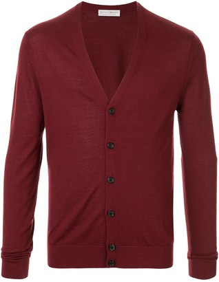 Gieves & Hawkes V-Neck Fine Knit Cardigan