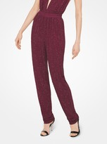 Michael Kors Crystal-Embroidered Matte-Jersey Pants