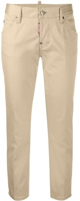 DSQUARED2 Cropped Straight Leg Chinos