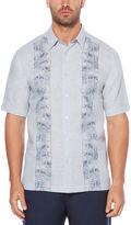 Cubavera Big & Tall Tropical Embroidered Panel Shirt