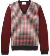 Gucci Checked Wool and Cashmere-Blend Sweater