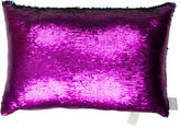 Aviva Stanoff Mermaid Sequin Purple Haze Throw Pillow