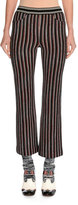 Missoni Striped Knit Ankle Pants, Red