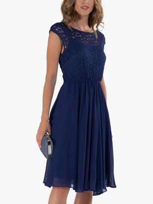 Jolie Moi Floral Lace Knee Length Dress