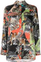 Blugirl jungle print oversized shirt