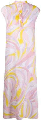 Emilio Pucci Abstract-Print Cotton Dress