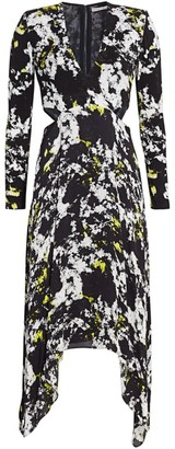 Alice + Olivia Temika Cutout Print Dress