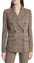 Tracy Reese Women's Double Breasted Plaid Blazer