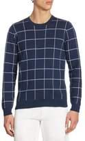 Lacoste Windowpane Jacquard Crewneck Sweater