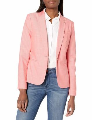 Tommy Hilfiger Women's One Button Linen Blazer