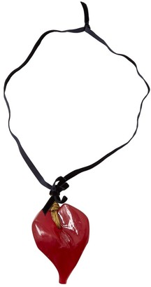 Moschino Red Plastic Necklaces