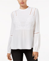 GUESS Luscia Embroidered Peasant Top