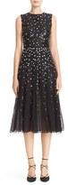 Women's Carolina Herrera Degrade Sequin Silk Midi Dress