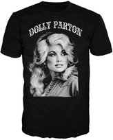 Global Dolly Parton B&W Portrait with Arc Logo Adult SS T-shirt