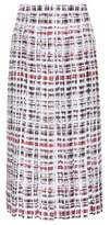 Burberry Scribble Check silk midi skirt