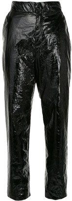 Georgia Alice Naughty high-rise cropped vinyl trousers