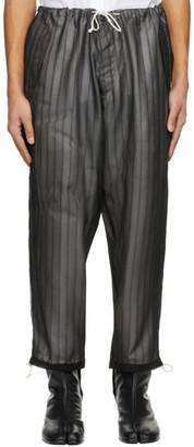 Maison Margiela Black Satin and Crepe Trousers