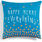 Holiday Lane Blue Happy Merry Everything Decorative Pillow, Created for Macy's