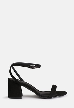 Missguided Black Low Block Barley There Heels