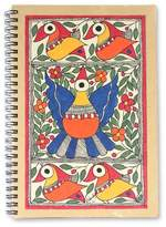 Madhubani painting journal, 'Festive Birds'