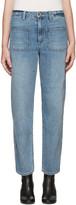 Helmut Lang - Jean à jambe ample bleu