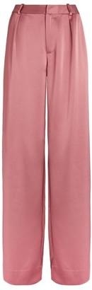 Paige Melise Satin Wide-Leg Trousers