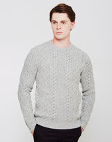 Levi's Fisherman Cable Crew Jumper Grey