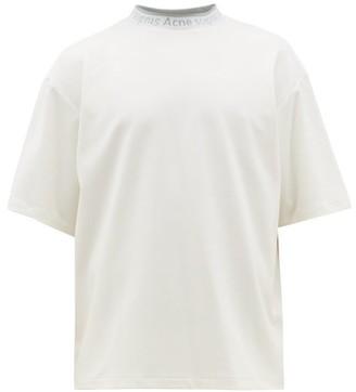 Acne Studios Extorr Logo-jacquard Cotton-jersey T-shirt - White