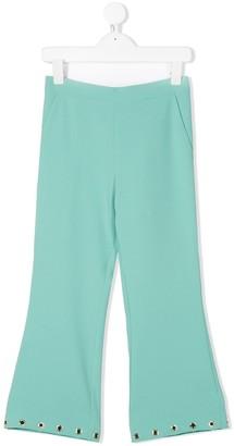 Elisabetta Franchi La Mia Bambina Eyelet-Embellished Trousers
