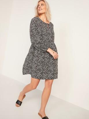 Old Navy Soft-Woven Keyhole Swing Dress for Women