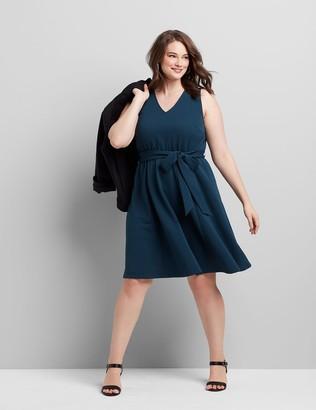 Lane Bryant Sleeveless Textured Fit & Flare Dress