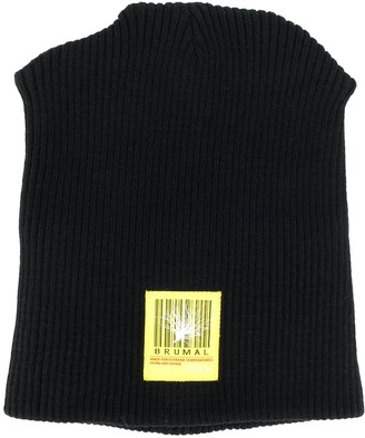 BRUMAL padded logo embroidered beanie hat