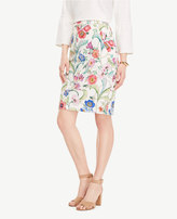 Ann Taylor Curvy Jungle Floral Pencil Skirt