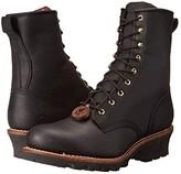 Chippewa 8 Steel Toe Logger (Black) Men's Work Boots