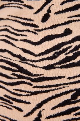 Finders Keepers TIGER KNIT DRESS tan tiger